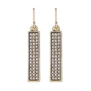 Chloe + Isabel Pave Bar Drop Earrings Gold